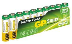 GP AA Super, alkalická LR6 - 10 ks, fólie