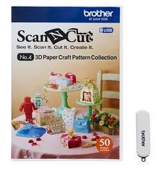 BROTHER USB4-3D papírové vzory