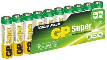 GP AAA Super, alkalická LR3 - 10 ks, fólie