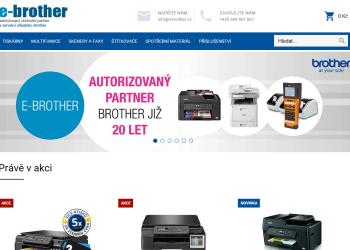 E-Brother - Spuštění nového E-shopu !!! - - elektronický obchod s originálními přístroji a servisní středisko BROTHER