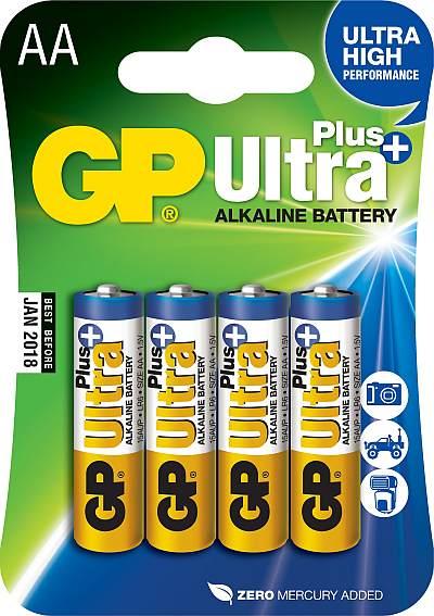 GP AA Ultra Plus, alkalická LR06 - 4ks