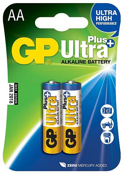 GP AA Ultra Plus, alkalická LR06 - 2 ks